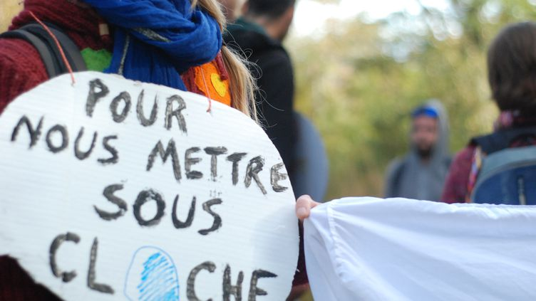Manifestation contre un projet Center Parcs à Roybon (Isère) le 20 octobre 2014. (CHRISTOPHE ESTASSY / CITIZENSIDE.COM / AFP)