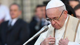 Le pape François à Rome, la capitale italienne, le 8 décembre 2018. (ALBERTO PIZZOLI / AFP)