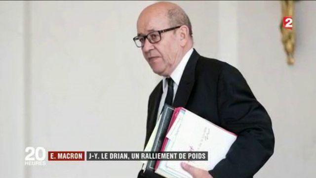 Jean-Yves Le Drian affiche son soutien à Emmanuel Macron