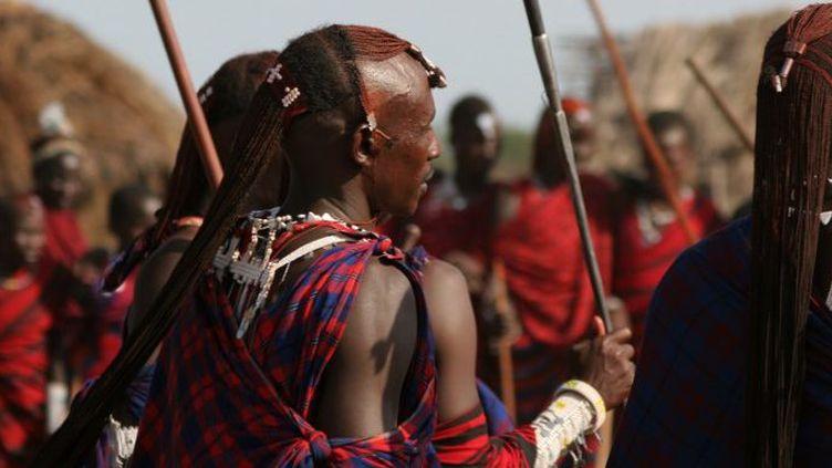 Les Massaï (ceux qui parlent la langue maa). Ces communautés minoritaires vivent au Kenya et dans le nord de la Tanzanie. (Photo AFP/Sylvie Ralu)