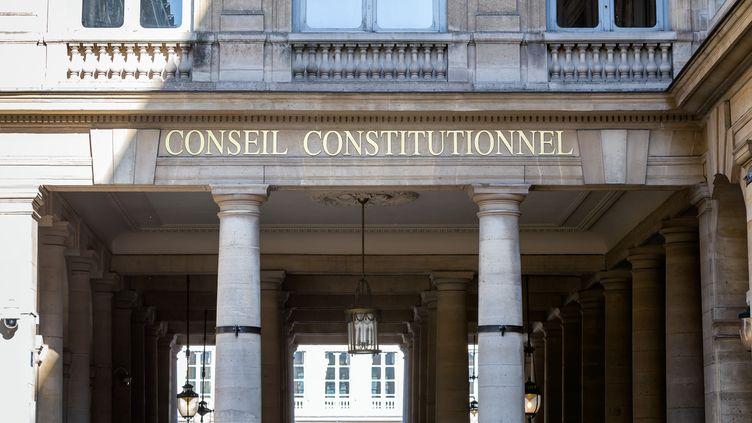 La façade du Conseil constitutionnel, le 1er juin 2020 à Paris. (MARTIN NODA / HANS LUCAS / AFP)
