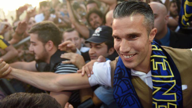 Robin van Persie à son arrivée à Fenerbahçe (OZAN KOSE / AFP)