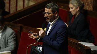 Matthieu Orphelin, ci-contre à l'Assemblée nationalele 4 février 2020. (THOMAS SAMSON / AFP)