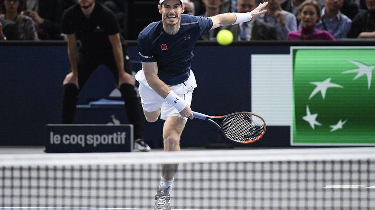 Le Britannique Andy Murray, le 4 novembre 2016 à Paris. (CHRISTOPHE SAIDI/SIPA)