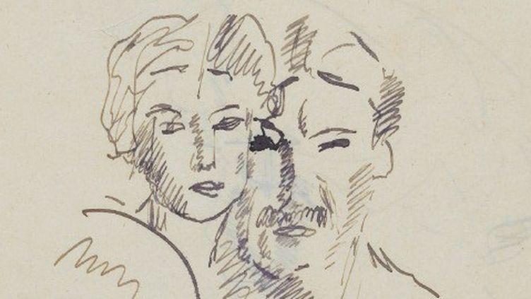 Dessinez d'abord ! l'affiche : Portraits de Fernand Léger et de sa fiancée Jeanne  (France 3 / Culturebox)