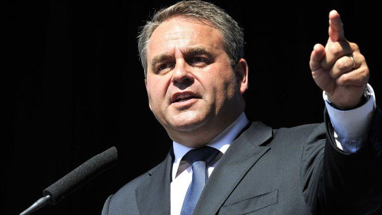 Le ministre du Travail, Xavier Bertrand, lors d'un meeting de l'UMP à Nice, le 11 septembre 2011. (BRUNOBEBERT / SIPA)