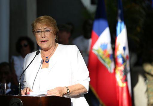 La présidente du Chili, Michelle Bachelet (27 mars 2017) (REUTERS - Jeanty Junior Agustin)