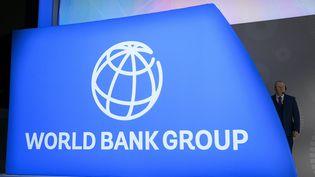 Photo réalisée lors de l'assemblée plénière de la Banque mondiale le 18 octobre 2019. (ANDREW CABALLERO-REYNOLDS / AFP)
