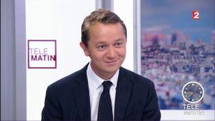 Maël de Calan sur le plateau de France 2, le 5 septembre 2017, à Paris. (FRANCE 2)