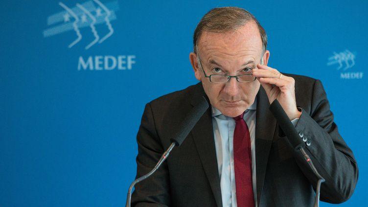 Pierre Gattaz, le président du Medef, le 31 août 2017 à Paris. (AURELIEN MORISSARD / MAXPPP)
