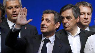 Nicolas Sarkozy, AlainJuppé, François Fillon et Bruno Le Maire, sont au programme durendez-vous de rentrée du Medef.  (PATRICK KOVARIK / AFP)