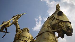 La statue de Jeanne d'Arc, à Paris, dans le 1er arrondissement. (JOEL SAGET / AFP)