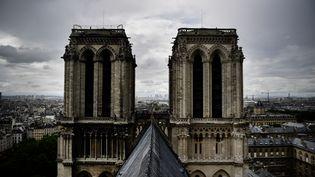 Une photo du toit de Notre-Dame de Paris, le 28 juin 2017. (MARTIN BUREAU / AFP)