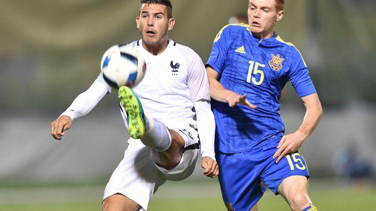 Le défenseur français des U21 Lucas Hernandez (SERGEI SUPINSKY / AFP)