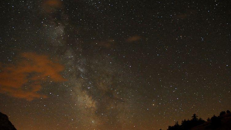 Photo du ciel prise dans les Hautes-Alpes pendant Les Nuits des étoiles de 2009. (JEAN-PIERRE CLATOT / AFP)