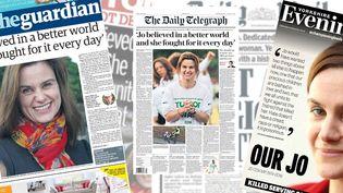 Les unes des principaux journaux britanniques rendent hommage à la députée Jo Cox, le 17 juin 2016. (FRANCETV INFO)
