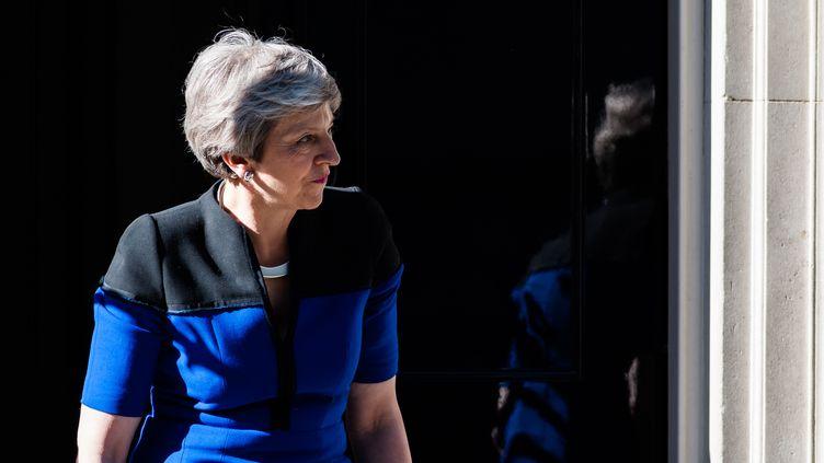 La Première ministre britannique Theresa May sort du10 Downing Streetà Londres, le 14 mai 2019. (WIKTOR SZYMANOWICZ / NURPHOTO / AFP)