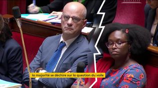 Jean-Michel Blanquer et Sibeth Ndiaye (FRANCEINFO)