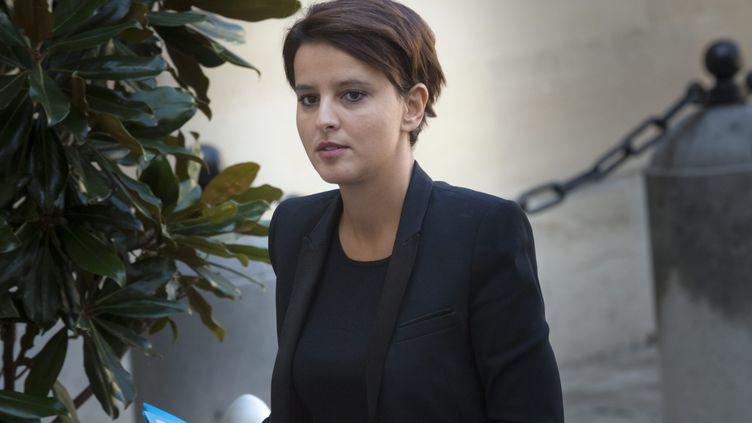 (Najat Vallaud-Belkacem, ministre de l'Education nationale, de l'enseignement supérieur et de la recherche, à l'hôtel de Matignon le 9 septembre 2015 ©Maxppp)