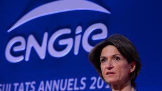 Isabelle Kocher,directrice générale d'Engie, ex-GDF-Suez, le 2 mars 2017, à Paris. (ERIC PIERMONT / AFP)
