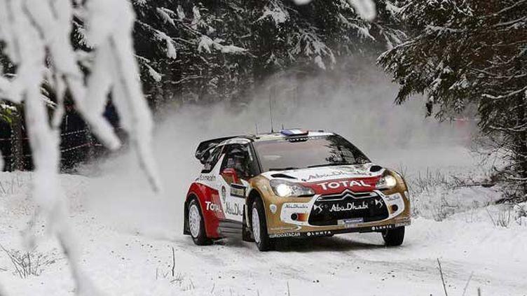 Sébastien Loeb sur le rallye de Suède