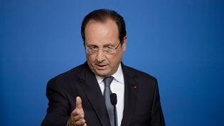 François Hollande, lors du Conseil européen, à Bruxelles (Belgique), le 27 juin 2014. (ALAIN JOCARD / AFP)