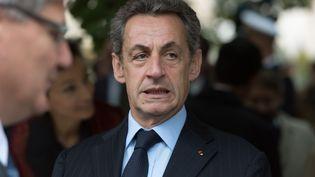 Nicolas Sarkozy durant la cérémonie d'hommage aux victimes du terrorisme aux Invalides à Paris, le 19 septembre 2016. (WITT/SIPA)
