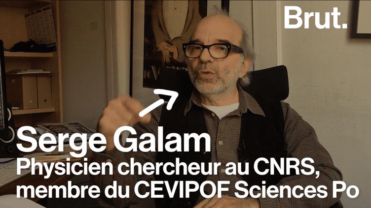 Serge Galam, physicien et chercheur au CNRS, a théorisé une formule permettant de calculer le taux d'intentions de vote au second tour à partir duquel Marine Le Pen gagnerait la présidentielle. Il explique sa théorie à Brut. (Brut)