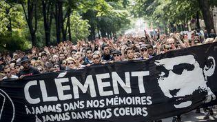 Manifestation à Paris en hommage à Clément Méric, le 8 juin 2013. ( MAXPPP)