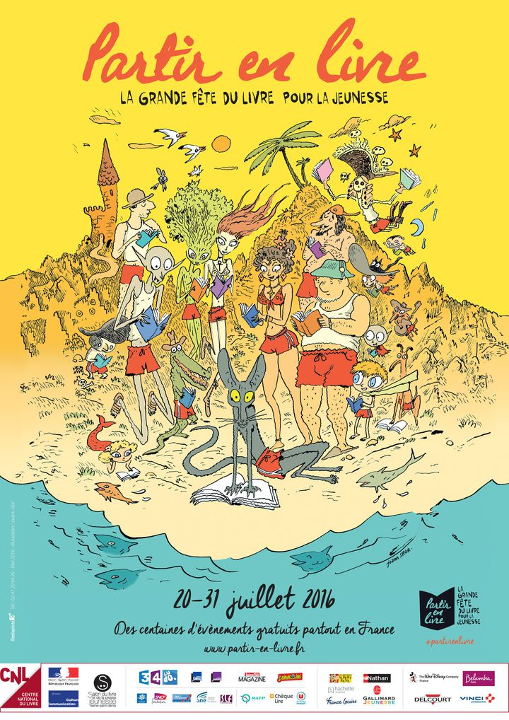 Partir en livre : l'affiche de Joann Sfar  (Joann Sfar/CNL)