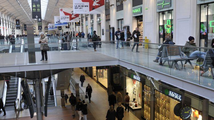 Le centre commercial de la gare Saint-Lazare à Paris. (BOB DEWEL /ONLY FRANCE/AFP)