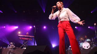 La chanteuse Kimberose en concert au festival Jazz in Marciac en 2019 (SEBASTIEN LAPEYRERE / MAXPPP)
