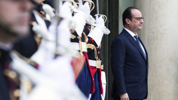 Le président de la République, François Hollande, le 20 juillet 2015 à l'Elysée. (MAXPPP)
