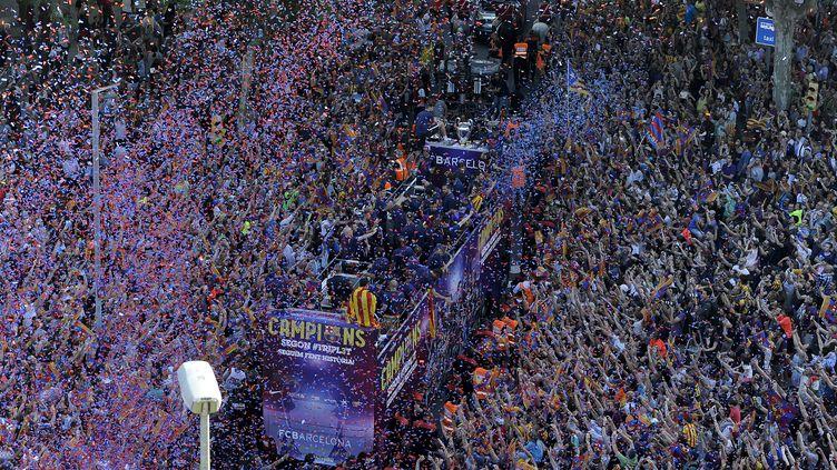 Barcelone en fête pour le retour de ses héros (JOSEP LAGO / AFP)