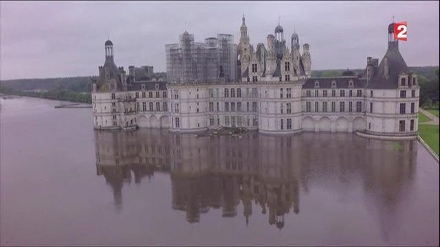 Inondations : l'île du château de Chambord