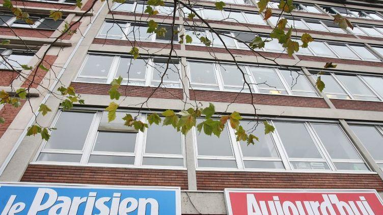 La façade du siège du quotidien Le Parisien/Aujourd'hui en France, à Paris, le 13 décembre 2006. (JOEL SAGET / AFP)