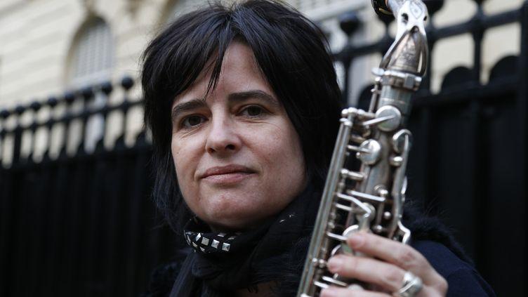 """Géraldine Laurent est nommée dans la catégorie """"Artiste ou formation de l'année"""" pour la 14e édition des Victoires du Jazz.  (FRANCOIS GUILLOT / AFP)"""