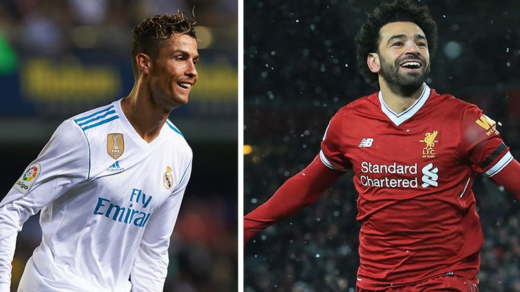 Les deux attaquants-stars: Cristiano Ronaldo (Real Madrid) et Mohamed Salah (Liverpool)