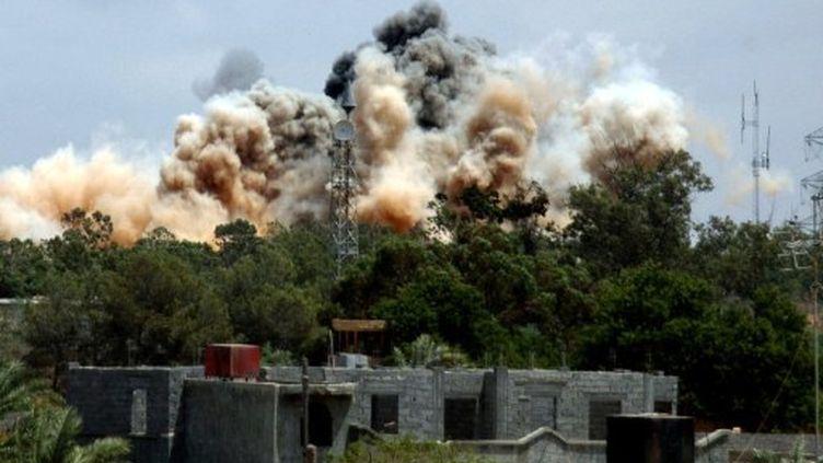 bombardements sur Tripoli (24/05/2011) (AFP)
