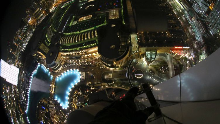 La vue depuis le 48e étage de l'hôtel The Address Downtown, où Dennis Mallari a trouvé refuge, le 31 décembre 2015, à Dubaï. (DENNIS B. MALLARI / FACEBOOK)