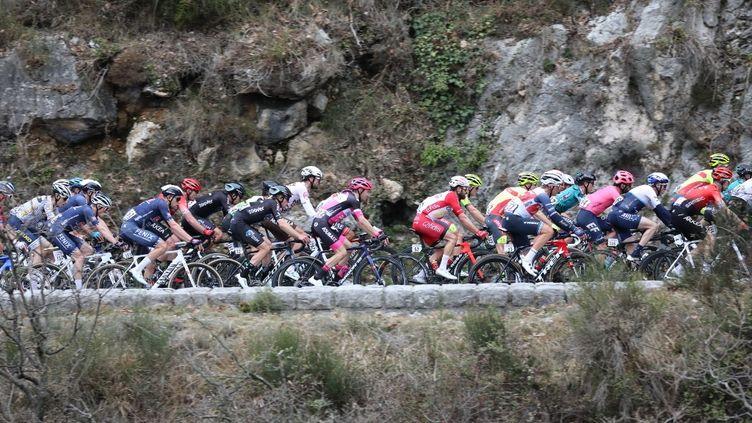 Le peloton a repris l'échappée à 4km de l'arrivée de la 2e étape du Tour des Alpes Maritimes et du Var  (LAURENT SANSON / LS MEDIANORD)