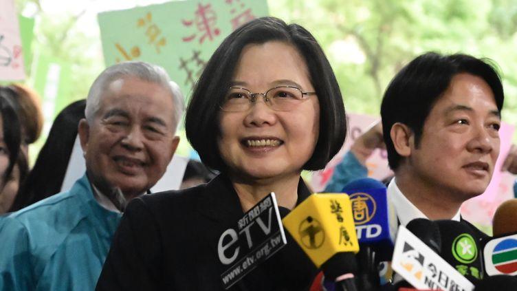 La présidente taïwanaise Tsai Ing-wen à Taipei, le 19 novembre 2019. Illustration. (SAM YEH / AFP)