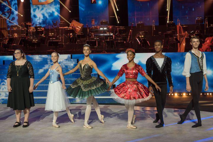 Pourles prodigesde la danse (Juliette, Pénélope, Aaliya, Iman et Paul),les répétitions ont été compliquées par la fermeture des studios de danse. (FRANÇOIS LEFEBVRE | Prodiges)