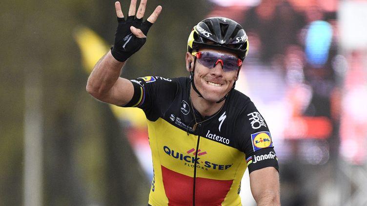Philippe Gilbert remporte son 4e succès dans l'Amstel Gold Race. (YORICK JANSENS / BELGA MAG)