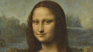 """Le visage de """"La Joconde""""(détail du portrait de Léonard de Vinci). (MICHEL URTADO / MUSÉE DU LOUVRE / RMN-GRAND PALAIS)"""