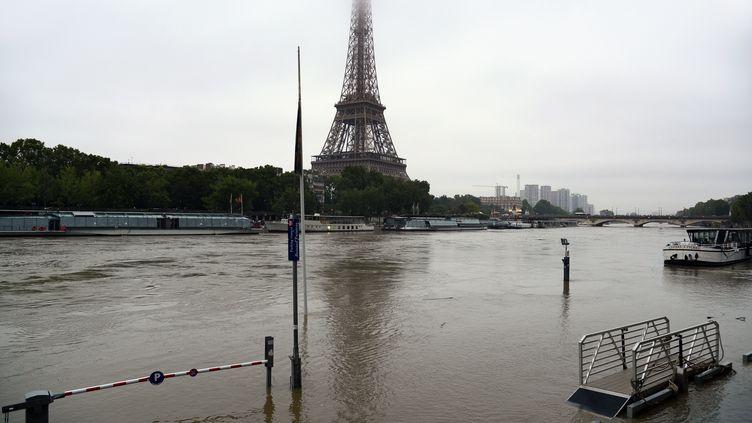 La Seine en crue le 1er juin 2016 à Paris. (BERTRAND GUAY / AFP)