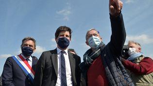 Julien Denormandie, le 17 avril 2021, à Parcay-Meslay, enIndre-et-Loire. (GUILLAUME SOUVANT / AFP)