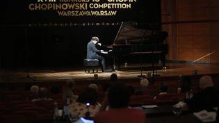 Concours Chopin de Varsovie : ici le pianiste chinois Hao Rao pendantles phases éliminatoires en juillet. (WOJCIECH OLKUSNIK / PAP)