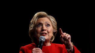 Hillary Clinton, candidate démocrate à l'élection présidentielle américaine de 2016 lors du premier débat télévisé, le 26 septembre 2016. (JUSTIN SULLIVAN / GETTY IMAGES NORTH AMERICA)