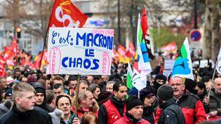 La manifestation contre la réforme des retraites à Lille, le 10 décembre 2019. (DENIS CHARLET / AFP)